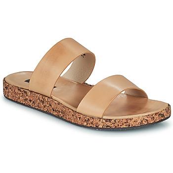 Schoenen Dames Leren slippers Neosens TARDANA Nude