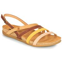 Schoenen Dames Sandalen / Open schoenen El Naturalista ZUMAIA Brown / Geel / Roze