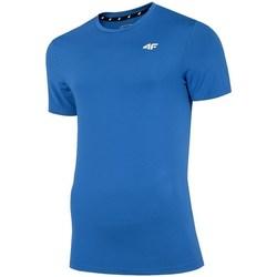 Textiel Heren T-shirts korte mouwen 4F TSMF002 Bleu