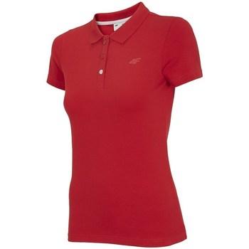 Textiel Dames Polo's korte mouwen 4F TSD008 Rouge