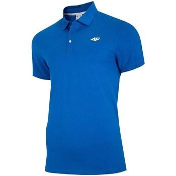 Textiel Heren Polo's korte mouwen 4F TSM007 Bleu