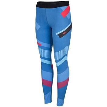 Textiel Dames Leggings 4F SPDF006 Bleu, Bleu