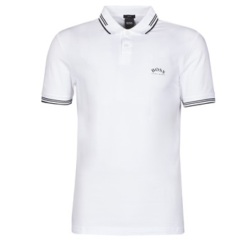 Textiel Heren Polo's korte mouwen BOSS PAUL CURVED Wit / Logo / Zwart
