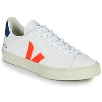 Schoenen Lage sneakers Veja CAMPO Wit / Orange / Blauw