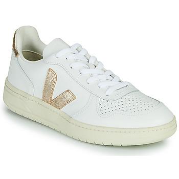 Schoenen Dames Lage sneakers Veja V-10 Wit / Goud