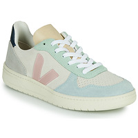 Schoenen Dames Lage sneakers Veja V-10 Wit / Blauw