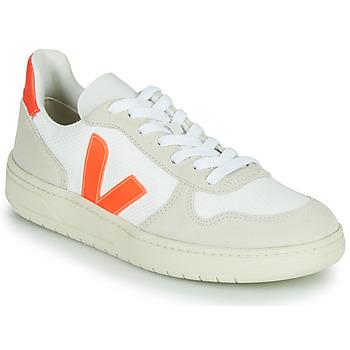 Schoenen Lage sneakers Veja V-10 Wit / Orange