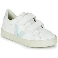 Schoenen Meisjes Lage sneakers Veja SMALL ESPLAR VELCRO Wit / Blauw / Rood