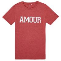 Textiel Meisjes T-shirts korte mouwen Name it NKFTHULIPPA Rood