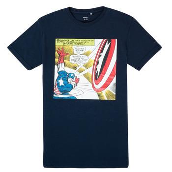 Textiel Jongens T-shirts korte mouwen Name it MARVEL Marine