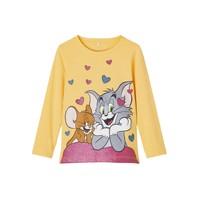 Textiel Meisjes T-shirts met lange mouwen Name it TOM&JERRY Geel