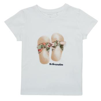 Textiel Meisjes T-shirts korte mouwen Name it NMFFISUMMER Wit