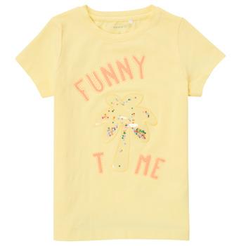 Textiel Meisjes T-shirts korte mouwen Name it NMFFEFA Geel