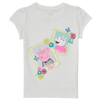 Textiel Meisjes T-shirts korte mouwen Name it PEPPAPIG Wit