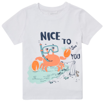 Textiel Jongens T-shirts korte mouwen Name it NMMFANO Wit