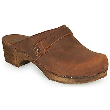 Schoenen Dames Klompen Sanita URSANA Brown