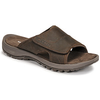 Schoenen Heren Leren slippers Merrell SANDSPUR II SLIDE Brown