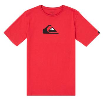 Textiel Jongens T-shirts korte mouwen Quiksilver COMP LOGO Rood