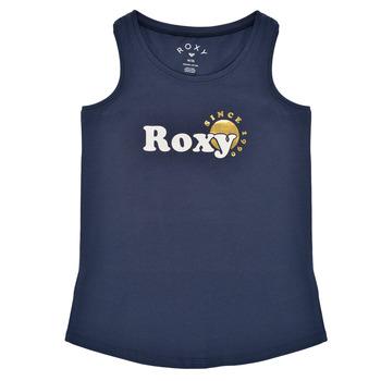 Textiel Meisjes Mouwloze tops Roxy THERE IS LIFE FOIL Marine