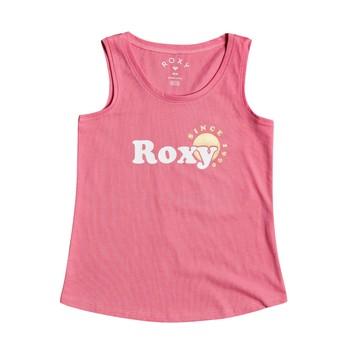 Textiel Meisjes Mouwloze tops Roxy THERE IS LIFE FOIL Roze