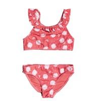 Textiel Meisjes Bikini's Roxy TEENY EVERGLOW CROP TOP SET Roze