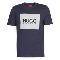 Textiel Heren T-shirts korte mouwen HUGO DOLIVE Marine