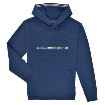 Textiel Jongens Sweaters / Sweatshirts Teddy Smith S-RUN HOODY Marine