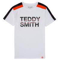 Textiel Jongens T-shirts korte mouwen Teddy Smith T-MACK Wit