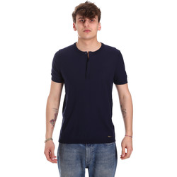 Textiel Heren T-shirts korte mouwen Gaudi 011BU53007 Blauw