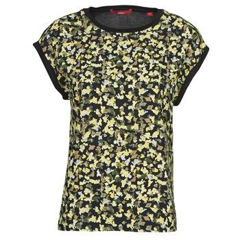Textiel Dames Tops / Blousjes S.Oliver 14-1Q1-32-7164-99B0 Zwart / Multicolour