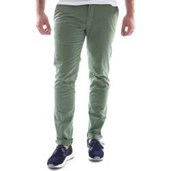 Textiel Heren Chino's Sei3sei 6OYSTER E1648 Groen