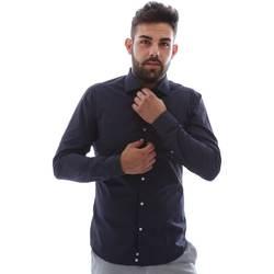 Textiel Heren Overhemden lange mouwen Gmf EQ2 1079 952151/02 Blauw