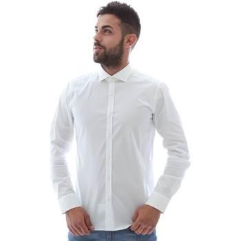 Textiel Heren Overhemden lange mouwen Gmf GMF5 4864 8 Wit
