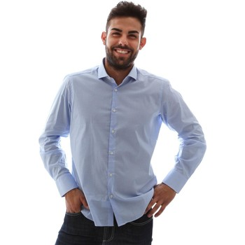 Textiel Heren Overhemden lange mouwen Gmf 961146/1 Blauw