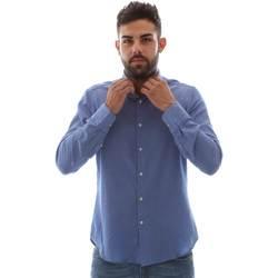 Textiel Heren Overhemden lange mouwen Gmf 961414/5 Blauw