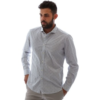 Textiel Heren Overhemden lange mouwen Gmf 961232/4 Wit