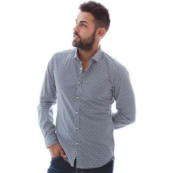 Textiel Heren Overhemden lange mouwen Gmf 961151/3 Blauw