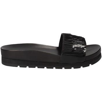 Schoenen Dames Leren slippers Apepazza MMI02 Zwart