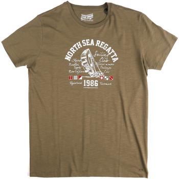 Textiel Heren T-shirts korte mouwen Key Up 2G78S 0001 Groen