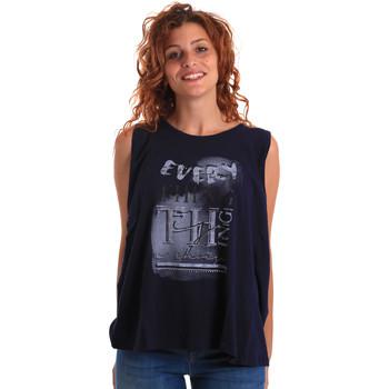 Textiel Dames Mouwloze tops Key Up 5Z14S 0001 Blauw