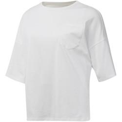 Textiel Dames T-shirts korte mouwen Reebok Sport DU4048 Wit