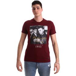 Textiel Heren T-shirts korte mouwen Gaudi 921BU64003 Rood