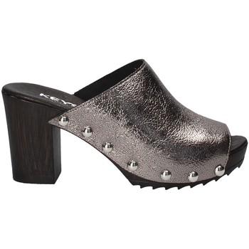Schoenen Dames Leren slippers Keys 5868 Grijs
