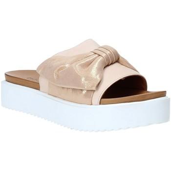 Schoenen Dames Leren slippers Grunland CI1519 Roze