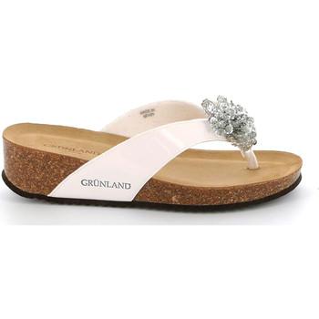Schoenen Dames Slippers Grunland CB2482 Wit