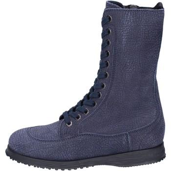 Schoenen Dames Enkellaarzen Hogan Bottines BK692 Bleu