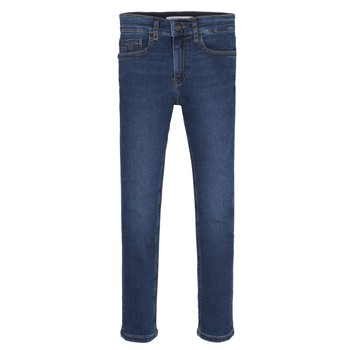 Textiel Jongens Skinny Jeans Calvin Klein Jeans ESSENTIAL ROYAL BLUE STRETCH Blauw