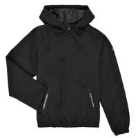 Textiel Jongens Wind jackets Calvin Klein Jeans MONOGRAM BADGE JACKET Zwart