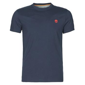 Textiel Heren T-shirts korte mouwen Timberland SS DUNSTAN RIVER POCKET TEE SLIM Marine