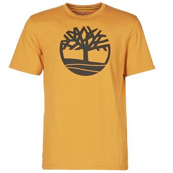 Textiel Heren T-shirts korte mouwen Timberland SS KENNEBEC RIVER BRAND TREE TEE  camel